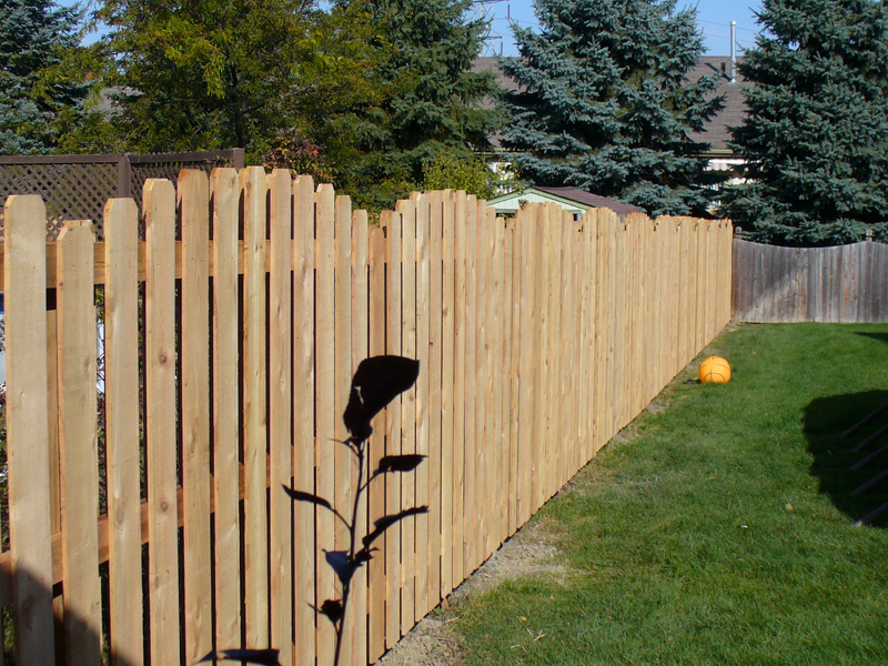 Clinton Township Wood Fence Installation